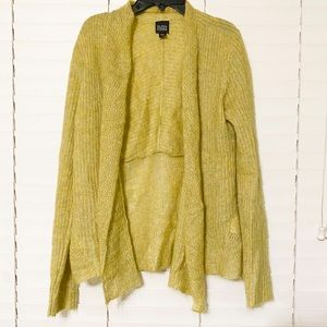 Eileen Fisher Lime Mohair and Wool Blend Cardigan